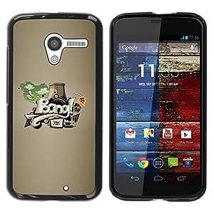 YiPhone /// Prima de resorte delgada de la cubierta del caso de Shell Armor - Bang graffiti Abstract Art - Motorola Moto X 1 1st GEN I XT1058 XT1053 XT1052 XT1056 XT1060 XT1055