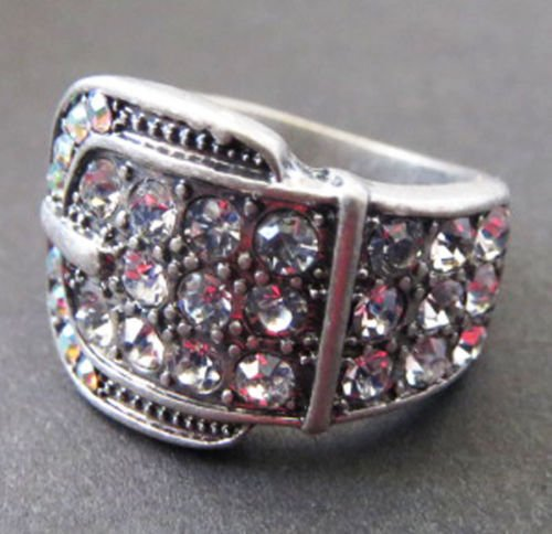 PREMIER DESIGNS JEWELRY BUCKLE UP RING SIZE 7 RV$53 (Chicos Design)