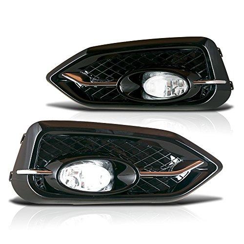 Winjet WJ30-0395-09 OEM Series for [2014-2015 Honda Civic Coupe] Clear Lens Driving Fog Lights + Switch + Wiring Kit (2015 Honda Civic Si Sedan Body Kit)