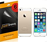 [6-Pack] Supershieldz- High Definition Clear Screen Protector for Apple iPhone 5 5S Front + Back + Lifetime Replacement [3 Front and 3 Back]
