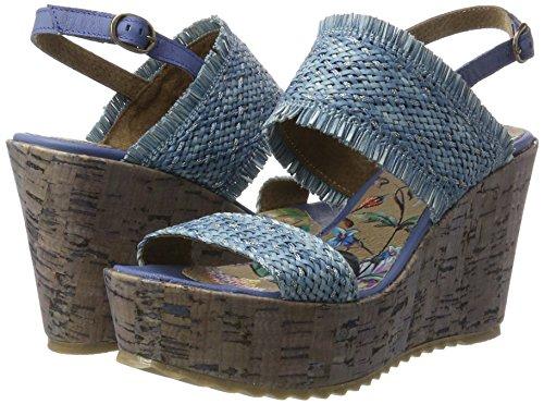 Rina Compensées Femme Chaussures blue Bunker Blau fp6ZZw
