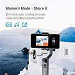 hohem 3-Axis Smartphone Gimbal Stabilizer for iPhone 11 Pro mAX/Xs Android, Foldbale Gimbal for Vlog Youtuber Live Video Recording, Face Tracking, Auto Inception Timelapse, iSteady X (Black) 5