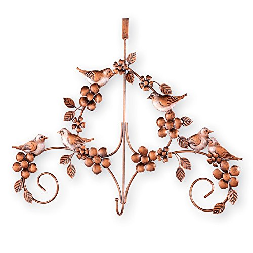 Bird Wreath Door Hanger by Collections Etc (Brown Wreath Hanger)
