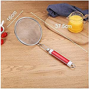 Fine Mesh Stainless Steel Strainer, Premium Colanders Metal Strainer- Food Strainer & Sieve with Comfortable Non Slip Handles and Sifters Best Accessory for Kitchen, Juice Filter and Rice Washer Set