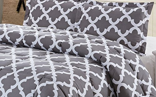 Printed Comforter Set Grey King Duvets lower Comforters