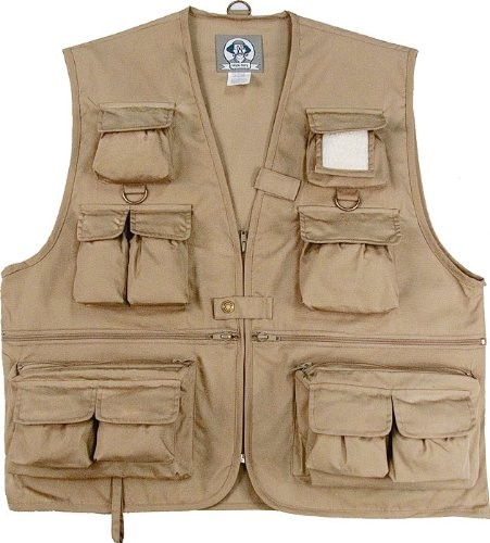 Uncle Milty 7546 Travel Vest, KHAKI XLARGE