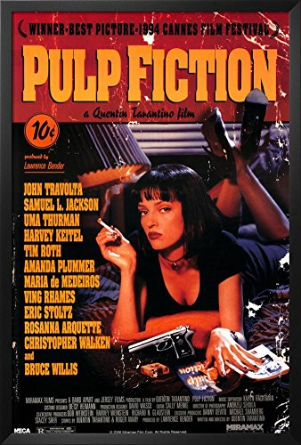 Professionally Framed Pulp Fiction Movie Uma Thurman Retro A