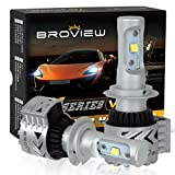 Broview H7 LED Headlight Bulbs, High or Low beam, CREE XHP50 Chips, 360°Adjustable Beam Pattern Conversion Kit 6500K 12,000Lm(2PCS/Set)