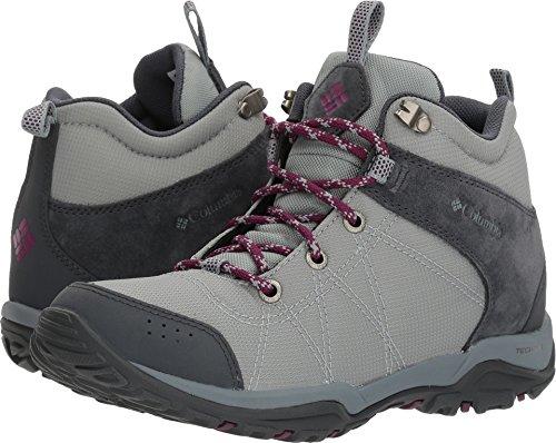 Columbia Women's Fire Venture Mid Textile Hiking Boot, Earl Grey, Dark Raspberry, 9.5 Regular US by Columbia (Image #3)