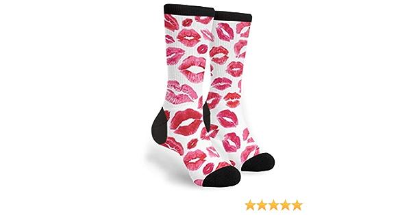 Black Socks With Red Lips Design Lovely Birthday or Christmas Gift