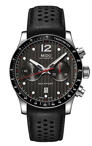 Mido Multifort Chronograph Leather Strap Automatic Men's Watch M0256271606100