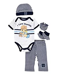 """Precious Moments Baby Boys' """"I Love Mommy"""" 5-Piece Layette Gift Set"""