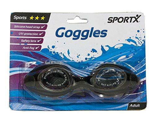 AK Sport 0766011 SportX Lunettes de natation antichlore Bleu/Jaune