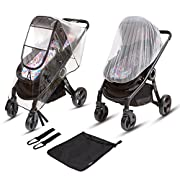Ritmart Stroller Rain Cover Universal + Mosquito Net + Hook Set (Pack of 2) || Exclusive Baby Travel Weather Shield