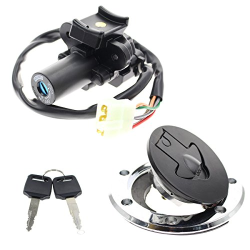 GooDeal Ignition Switch Gas Cap Cover Lock with Key Set fit Kawasaki ZX7R ZX9R ZXR750 ZX900