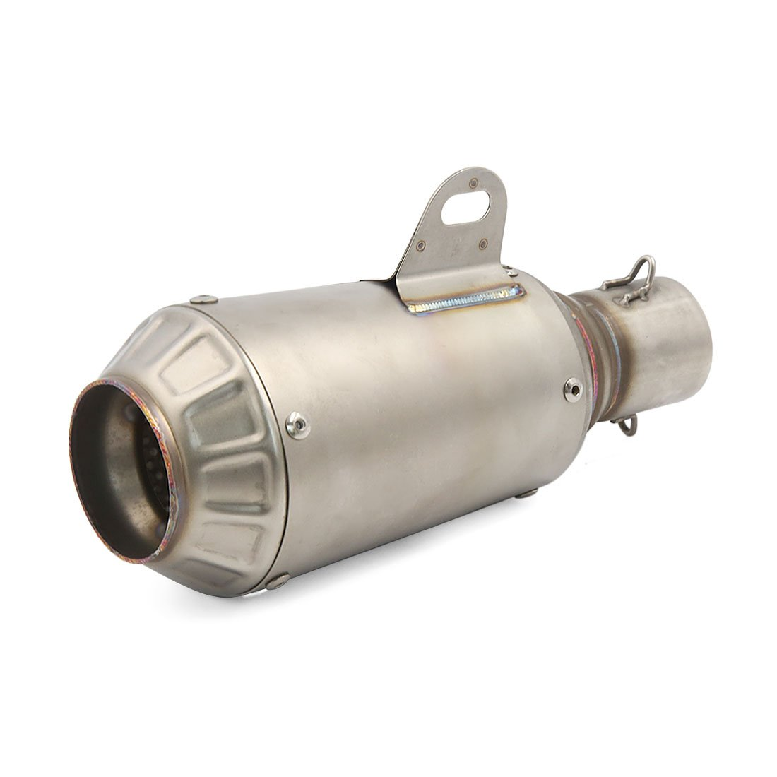 uxcell 51mm Inlet Gray Grenade Shaped Exhaust Pipe Muffler Silencer for Motorbike Street Dirt Bike