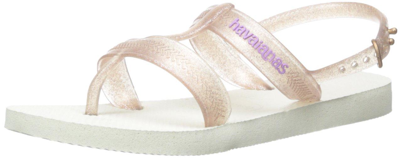 Havaianas Kids Joy Sandal Soft Lilac Flip Flop With Backstrap , White,23/24 BR (9 M US Toddler)