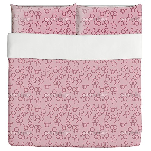Love The Unusual Duvet Bed Set 3 Piece Set Duvet Cover - 2 Pillow Shams - Luxury Microfiber, Soft, Breathable by uneekee