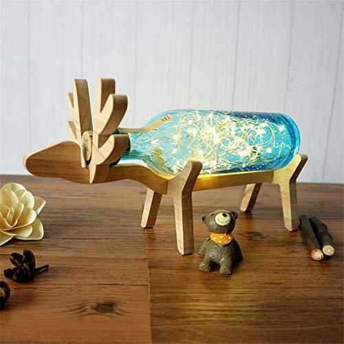 Ins Hot Romantic Wooden Dear Kids Room Lámpara de mesa ...
