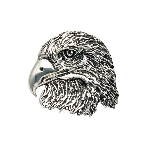 Wild Things Sterling Silver Eagle Head Pendant