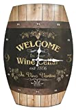Clock Wine Barrel Look 20×15 inches Concave Wine Barrel Shape Wine Cellar Rustic Design Review