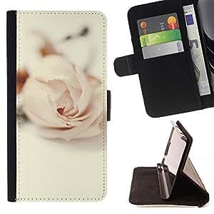 For Sony Xperia M5 E5603 E5606 E5653 Case , Pétalo de la flor del amor de Rose Vignette Rosa- la tarjeta de Crédito Slots PU Funda de cuero Monedero caso cubierta de piel