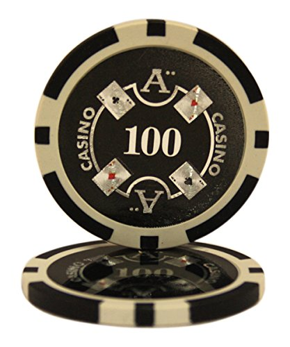 50 $100 Ace Casino Clay Composite 13.5 Gram Poker Chips