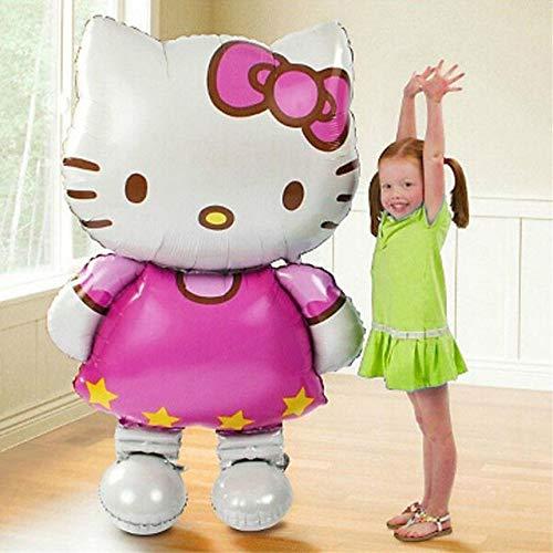 116 * 65 cm gran tamaño Hello Kitty Cat Foil Globos para decoración de cumpleaños boda fiesta hinchable: Amazon.es: Hogar
