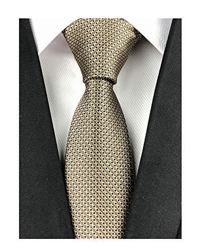 Tall Men Boys Silk Bronze Novelty Ties Luxury Pattern 2
