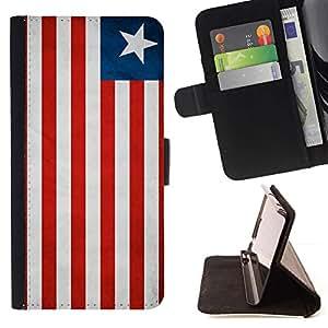 Momo Phone Case / Flip Funda de Cuero Case Cover - Nacional bandera de la nación País Liberia; - Sony Xperia Z5 5.2 Inch (Not for Z5 Premium 5.5 Inch)