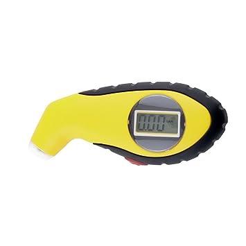 LCD de alta calidad digital para coche neumático rueda Herramientas Vehículo Race Medidor de presión de neumáticos Medida portátil auto automóvil Meter: ...