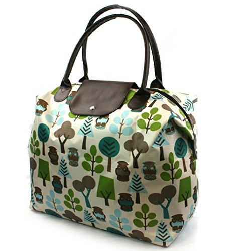 Eule Design Reisetasche und passende WC-Tasche