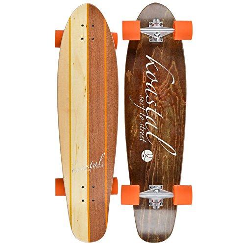 Koastal Longboards Two Face Complete Longboard, 9.5 x 37″