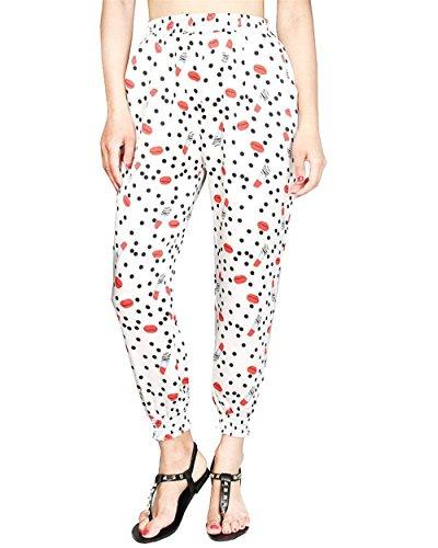 11 Motif Elastische Pretty Harem Style Vêtements Hipster Tissu Pantalons Avec De Couleur Pantalon D'été Haute Élégante Slim Long Mode Taille Poches Basic XxwC1qIg