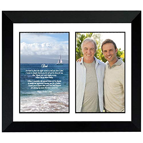(Father's Day Gift for Dad in Frame with Poem Photo Mat - Add Photo)