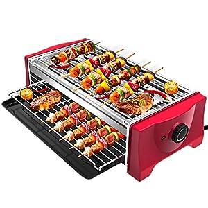 51eVP6SaBPL. SS300 Tischgrill Elektrisch Barbecue - Rauchfreier Elektrogrill 2000W Elektro Tischgrill Grills Standgrill für Balkon…