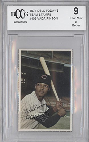 Vada Pinson Other ENCASED IN SLAB (Baseball Card) 1971 Dell MLB Stamps - [Base] #VAPI from Dell MLB Stamps