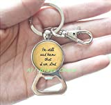 bottle opener lord of the rings - Be still and know that I am God - Religious Jewelry - Scripture Bottle opener Keychain - Faith Jewelry - Religious Bottle opener Keychain Bottle opener Key Ring - Faith Charms,AS080