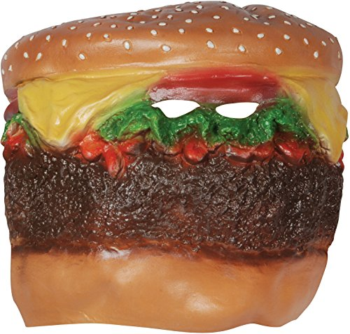 Loftus Cheeseburger Head Costume Face Mask Brown Multicolored (Burger King Costume Halloween)