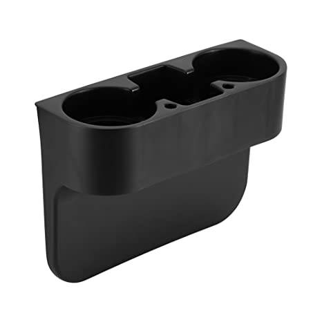 Amazon.com: 3 In1 Car Seat Seam Wedge Cup Holder Universal Black 2 ...
