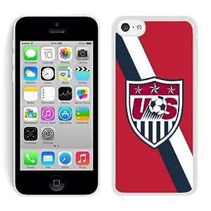 Individualization USA Soccer 3 Unique Custom White Case For iPhone 5C Case