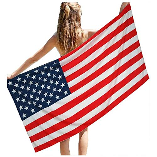 (VICCKI Beach Pool Home Shower Towel Blanket Table Cloth Wall Hanging Dorm Decor Red)