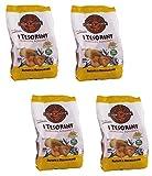 I Tesori di Canusium ''I Tesorini Patate e Rosmarino'' Italian Taralli, Potatoes and Rosemary Taste - 7.94 Ounces (225gr) Packages (Pack of 4) [ Italian Import ]