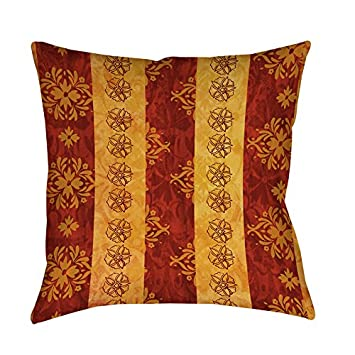 Amazon Single Piece Red Gold Thumbprintz Palms Decorative Classy Types Of Decorative Pillow Shapes