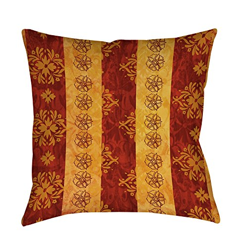 Single Piece Red Gold Thumbprintz Palms Decorative