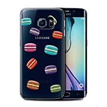 STUFF4 Phone Case / Cover for Samsung Galaxy S6 Edge+/Plus / Macaron Design / Pieces of Food Collection
