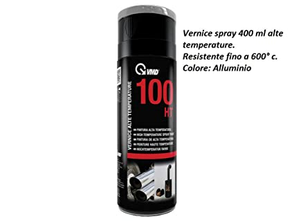 vmd aerosol 400 ml pintura spray color aluminio Alto Temperature para chimeneas estufas Hornos barbacoa resistente