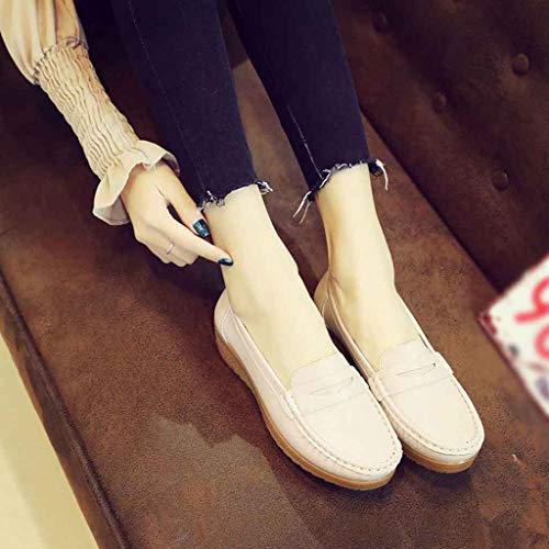 En Femme Shoes Cuir Beige Sunnywill Pois Driving Mocassins Chaussures Slip Casual 7qnTHBwX1O