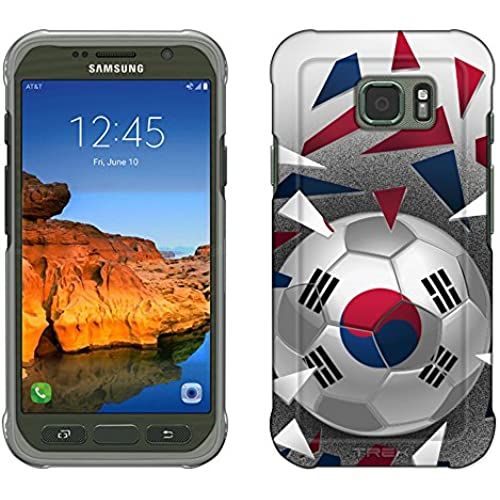 Samsung Galaxy S7 Active Case, Snap On Cover by Trek Soccer Ball Korea Flag Slim Case Sales
