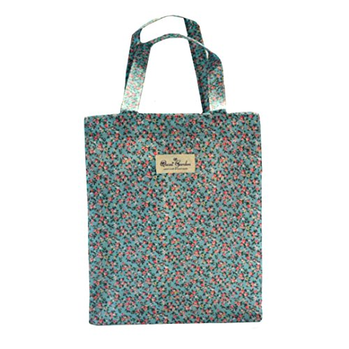 Millya Niñas señoras impermeable reutilizable bolsa de la compra estudiante bolsa de almacenamiento de viaje bolsa de reciclaje